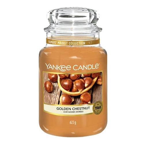 Svíčka ve skleněné dóze Yankee Candle Zlatý kaštan, 623 g
