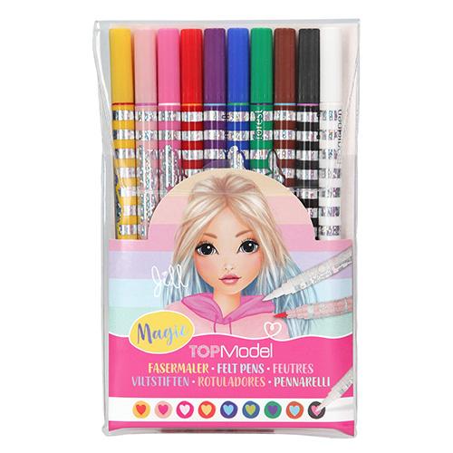Magické fixy Top Model Měnící barvu, 9 barev + Magic pen