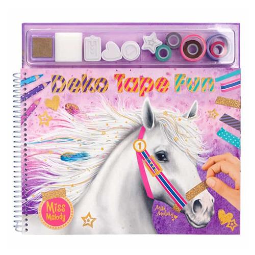 Omalovánky, kreativní sada Miss Melody Deko Tape Fun, barvevné pásky, razítka