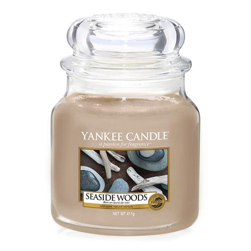 Svíčka ve skleněné dóze Yankee Candle Přímořská dřeva, 410 g