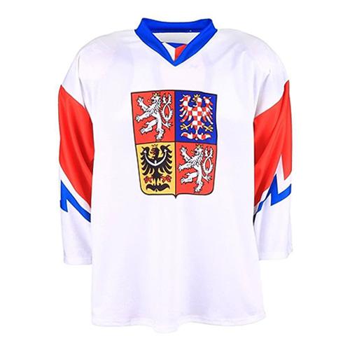Hokejový dres Jersey53 Česko | Bílá | S