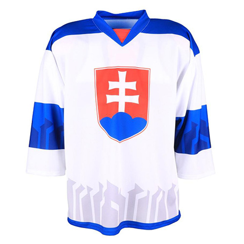Hokejový dres Jersey53 Slovensko | Bílá | XL