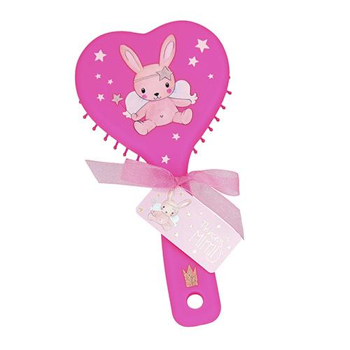 Hřeben Princess Mimi ASST Tmavě růžový, ve tvaru srdce
