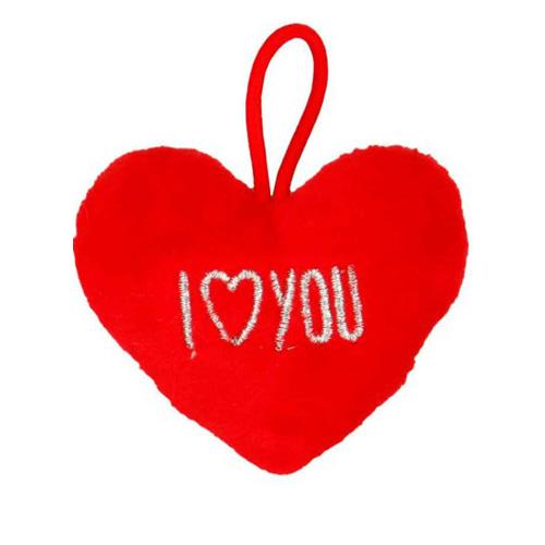 Přívěsek ve tvaru srdce Top Model ASST I love you, červený