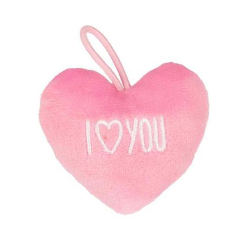 Přívěsek ve tvaru srdce Top Model ASST I love you, růžový