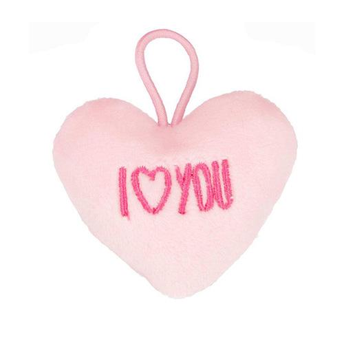 Přívěsek ve tvaru srdce Top Model ASST I love you, světle růžový