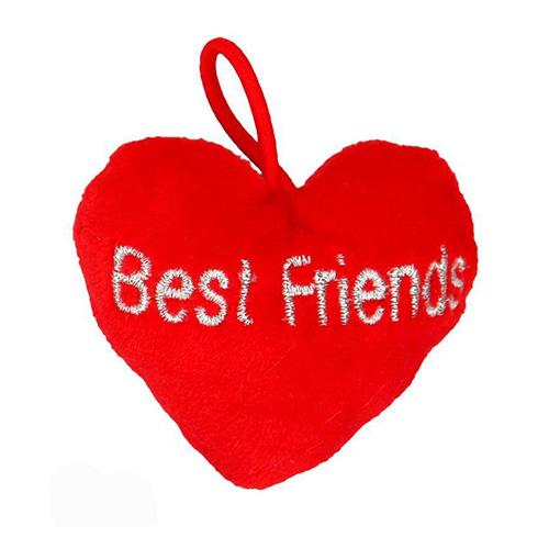 Přívěsek ve tvaru srdce Top Model ASST Best Friends, červený
