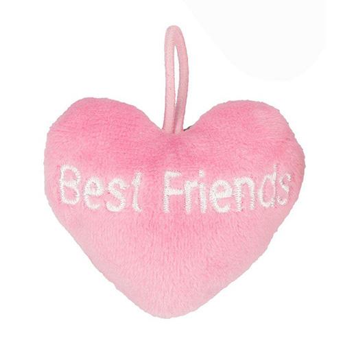 Přívěsek ve tvaru srdce Top Model ASST Best Friends, světle růžový