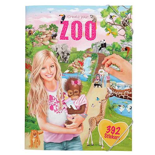 Kreativní sešit Create Your ZOO, 392 samolepek