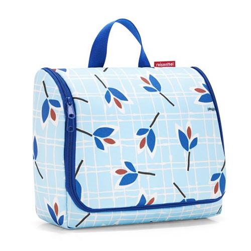 Cestovní toaletní taška Reisenthel Modré listy   toiletbag XL