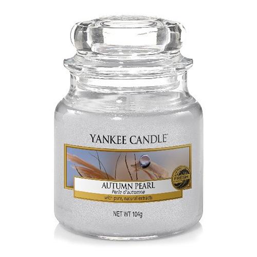 Svíčka ve skleněné dóze Yankee Candle Podzimní perla, 104 g