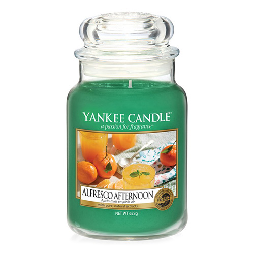 Svíčka ve skleněné dóze Yankee Candle Alfresco odpoledne, 623 g