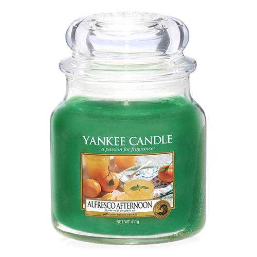 Svíčka ve skleněné dóze Yankee Candle Alfresco odpoledne, 410 g