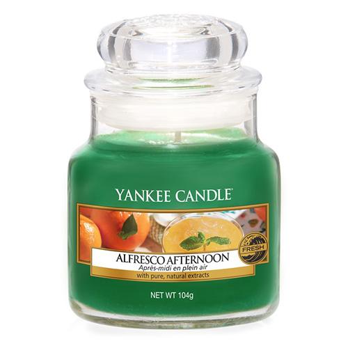 Svíčka ve skleněné dóze Yankee Candle Alfresco odpoledne, 104 g