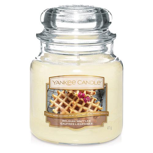 Svíčka ve skleněné dóze Yankee Candle Belgické vafle, 410 g