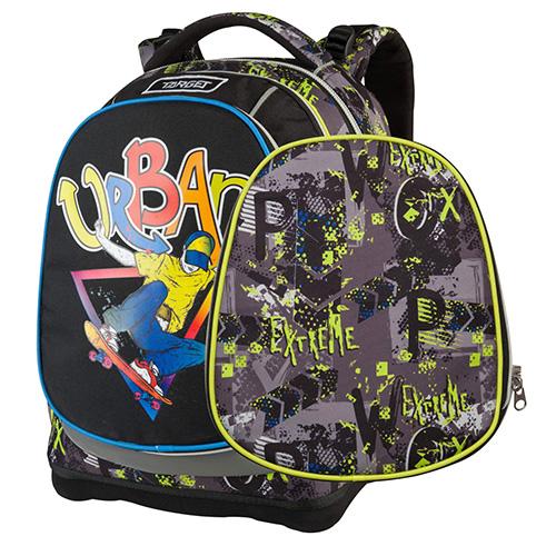 Školní batoh Target Urban Jump, šedo-žluté vzory