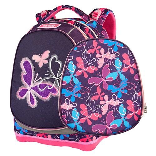 Školní batoh Target Motýlci, modro-fialový