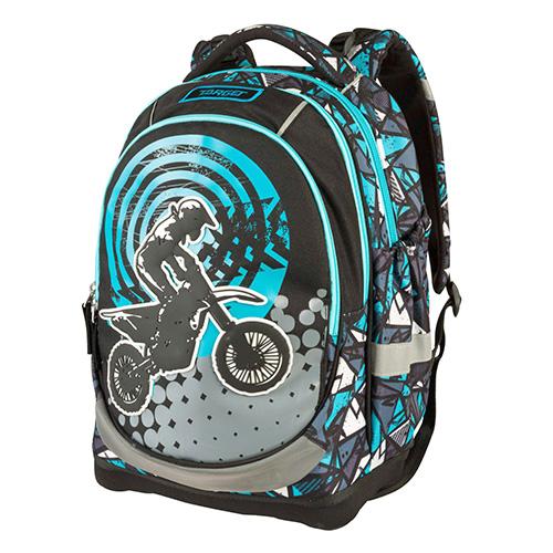 Školní batoh Target MX Race, modré vzory