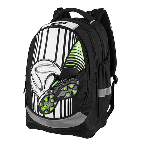 Školní batoh Target Fotbal, černo-bílý