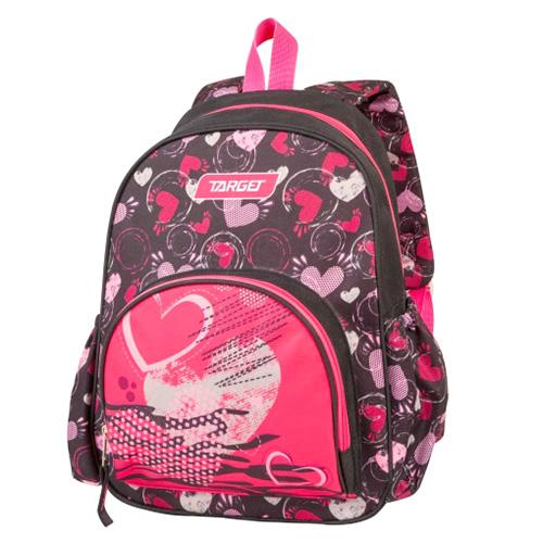 Batůžek Target Srdce, růžovo-černý