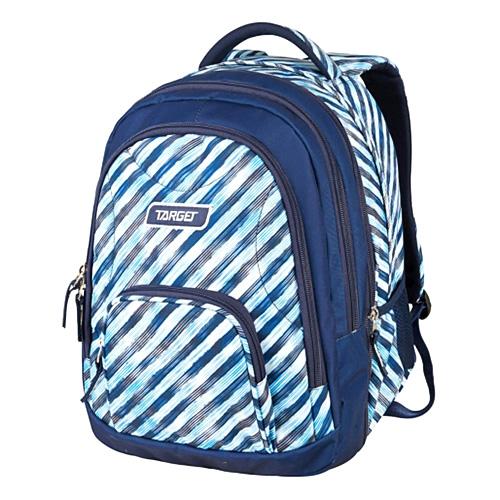 Školní batoh 2v1 Target Modré pruhy