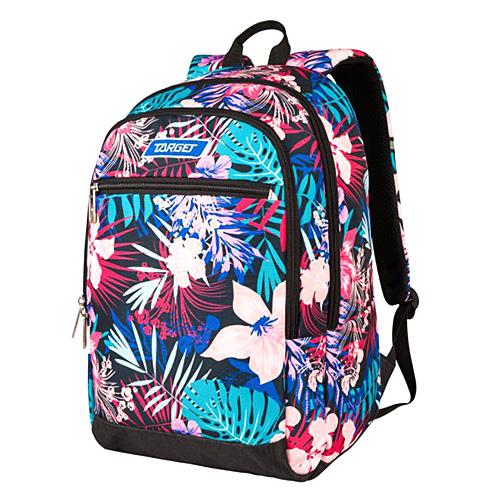 Studentský batoh Target Květiny, modro-růžový