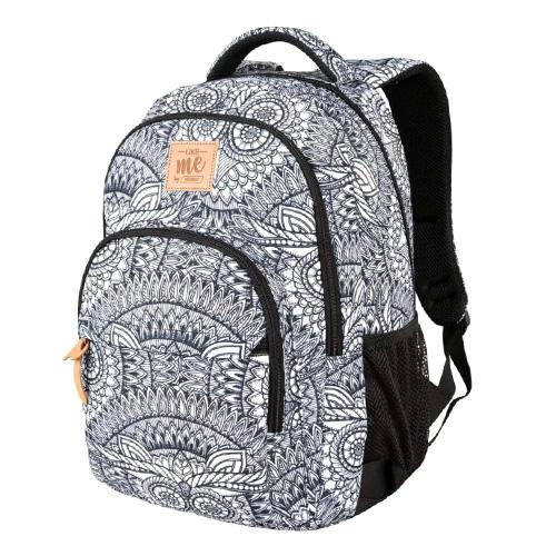 Školní batoh Target Šedý se vzorem mandaly
