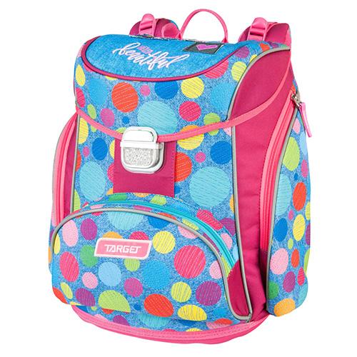Školní aktovka Target Barvné puntíky, růžovo-modrá