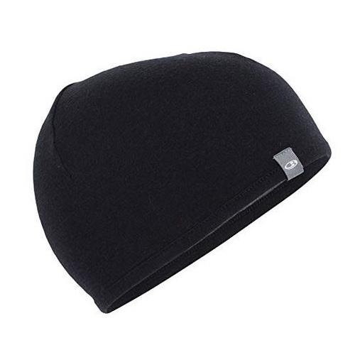 Icebreaker Adult Pocket Hat IBM200 | Black/Gritstone HTHR | A04 | OS