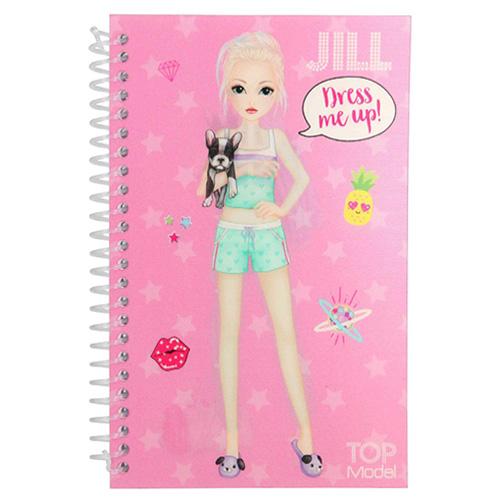 Kreativní sešit Top Model ASST Jill, Obleč mě, růžový