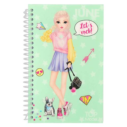 Kreativní sešit Top Model ASST June, Obleč mě, zelený