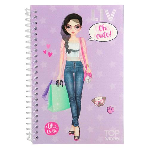 Kreativní sešit Top Model ASST Liv, Obleč mě, fialový