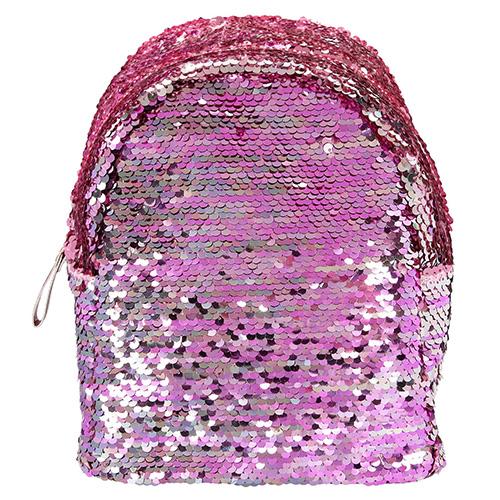 Mini batůžek Top Model Růžový s měnícími flitry
