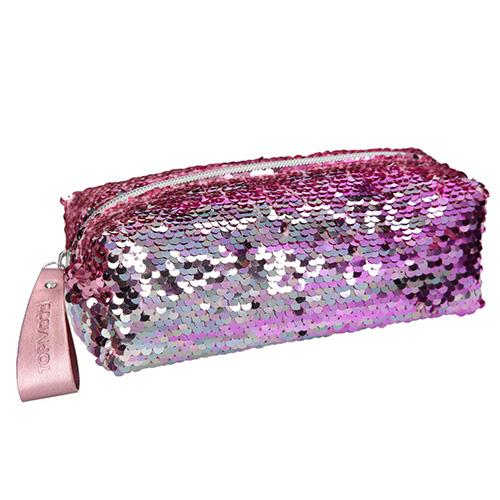 Kosmetická taška Top Model Růžová s měnícími flitry