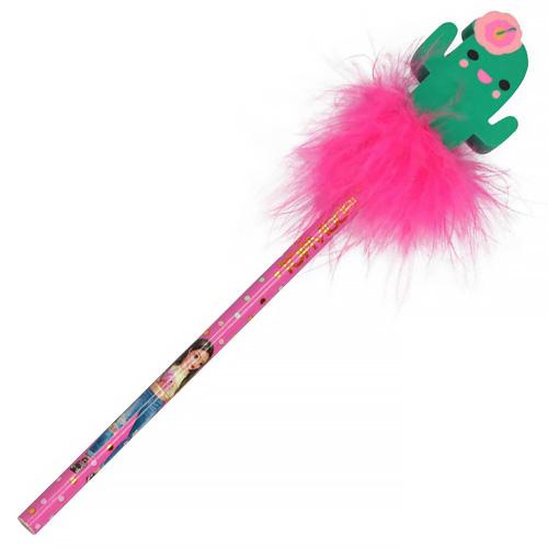 Tužka s gumou Top Model ASST Kaktus, růžové chmýří