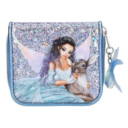 Peněženka Fantasy Model Víla se srnečkou, světle modrá s flitry