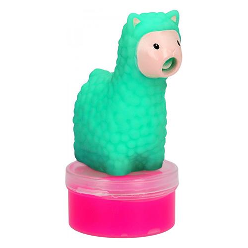 Figurka se slizem Top Model ASST Zelená lama, růžový sliz
