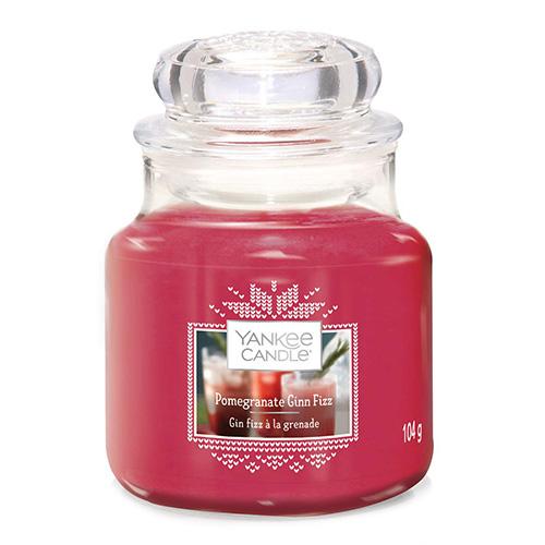 Svíčka ve skleněné dóze Yankee Candle Gin Fizz z granátového jablka, 104 g
