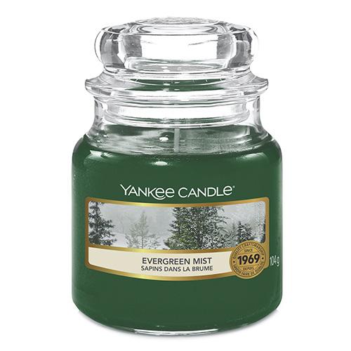 Svíčka ve skleněné dóze Yankee Candle Lesní mlha, 104 g