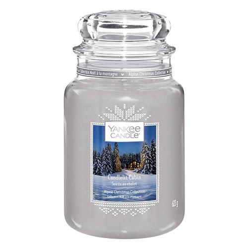 Svíčka ve skleněné dóze Yankee Candle Chata ozářena svíčkou, 623 g
