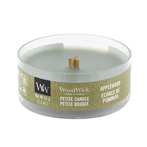 Drobná svíčka WoodWick Jabloňové dřevo, 31 g
