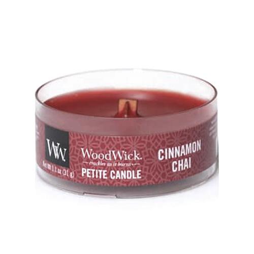 Drobná svíčka WoodWick Skořice a vanilka, 31 g