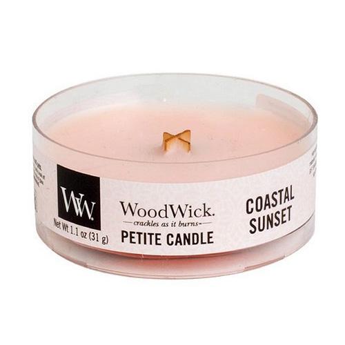 Drobná svíčka WoodWick Západ slunce na pobřeží, 31 g
