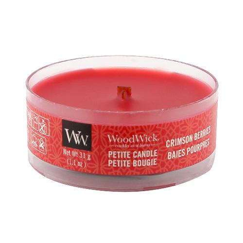 Drobná svíčka WoodWick Červená jeřabina, 31 g