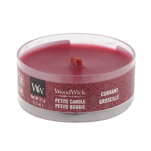 Drobná svíčka WoodWick Rybíz, 31 g