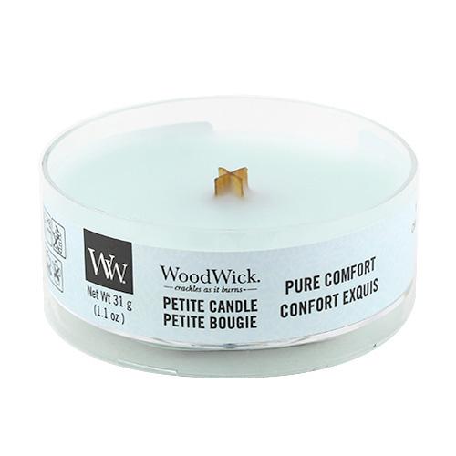 Drobná svíčka WoodWick Čistota a pohodlí, 31 g