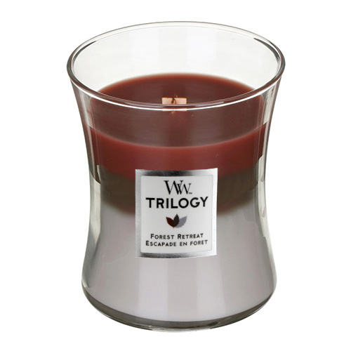 Svíčka Trilogy WoodWick Únik do lesa, 275 g