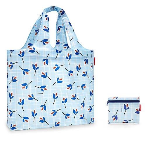 Plážová taška Reisenthel Modré listy | mini maxi beachbag