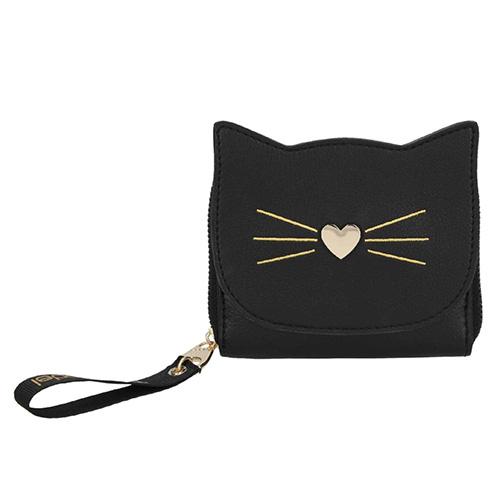 Peněženka Top Model Černá s motivem kočky