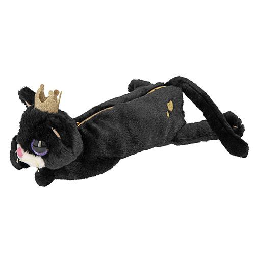 Plyšový penál Top Model Kočička, černý